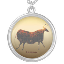 Red Cow of Lascaux Silver Plated Necklace
