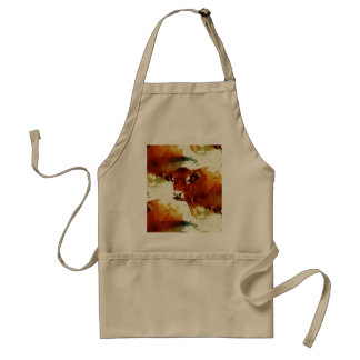 Red Cow Painting Adult Apron
