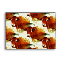 Red Cow Painting Envelope