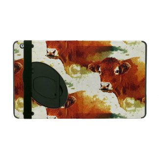 Red Cow Painting iPad Cover