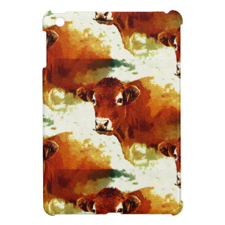 Red Cow Painting iPad Mini Cover