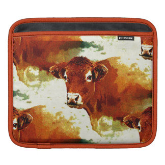 Red Cow Painting iPad Sleeve