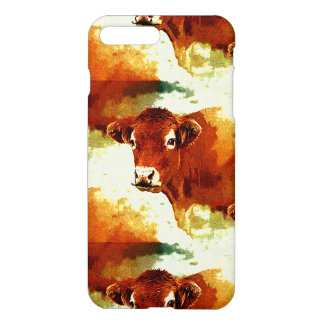 Red Cow Painting iPhone 7 Plus Case