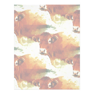 Red Cow Painting Letterhead