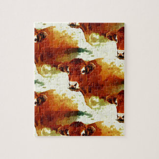 Red Cow Painting Puzzle