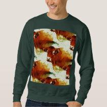 Red Cow Painting Sweatshirt