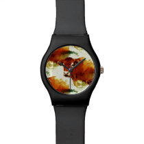 Red Cow Painting Watch