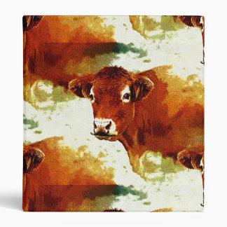 Red Cow Pattern Binders