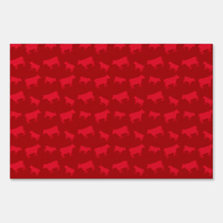 Red cow pattern signs
