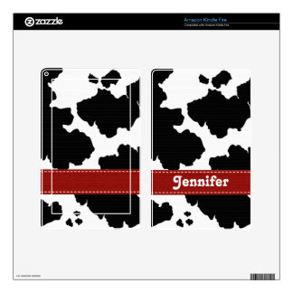 Red Cow Print Kindle Fire Skin
