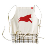 Red Cow Zazzle HEART Apron