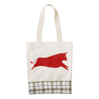Red Cow Zazzle HEART Tote Bag