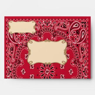 Red Cowboy, Bandana Envelope