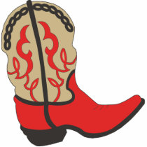 Red Cowboy Boot Cutout