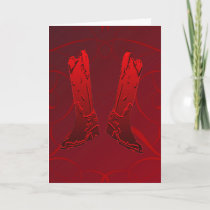 Red Cowboy Boots Greeting Card