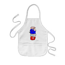 Red Cowboy Boots Kids' Apron