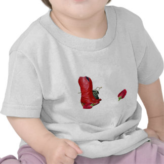 Red Cowboy Boots, Red Roses, Pug Dog & Scissors Shirts