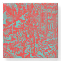 Red Cowboy Marble Coaster