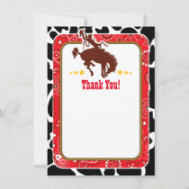 Red Cowboy Thank You Notes