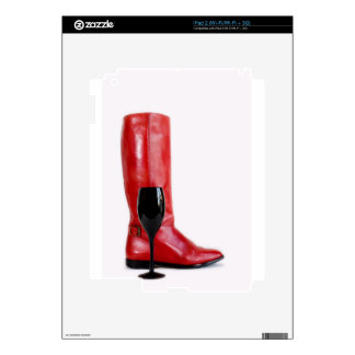 Red Cowgirl Boot Western Wineglass Wine Skin For iPad 2