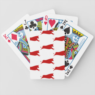 Red Cows Bicycle Playing Cards