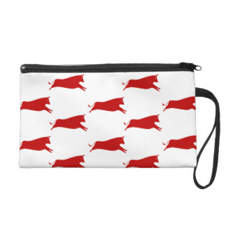 Red Cows Wristlet Purse