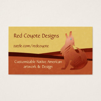 Red Coyote Business Card