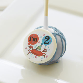 Red Crab 2nd Birthday Cake Pops