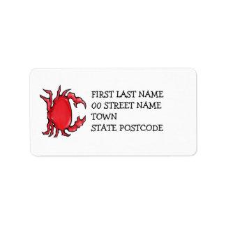 Red Crab Address Label