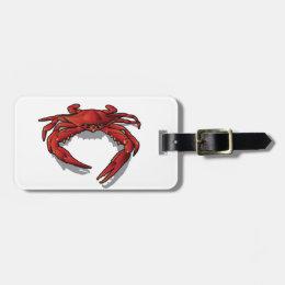 Red Crab Bag Tag