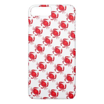 Beach Themed Red Crab Baltimore Maryland Crabs Seafood Case