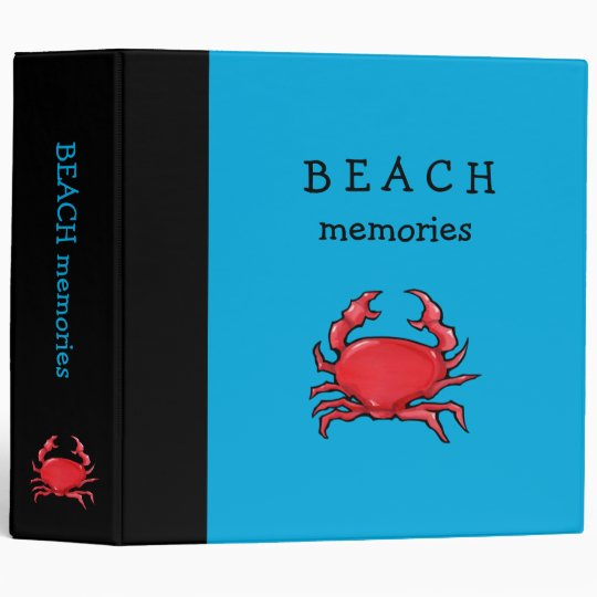 Red Crab blue Binder