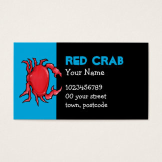 Red Crab blue Business Card
