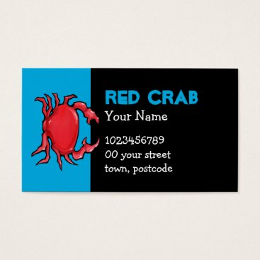 Professional Business Red Crab blue Business Card