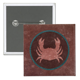 Red Crab Blue Ring Pins