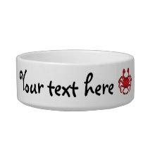 Red crab bowl