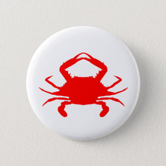 Red Crab Button