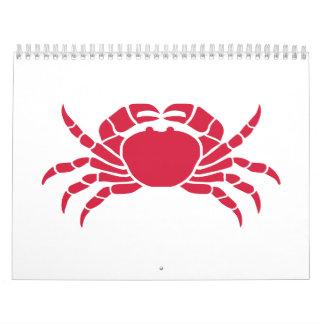 Red crab calendar
