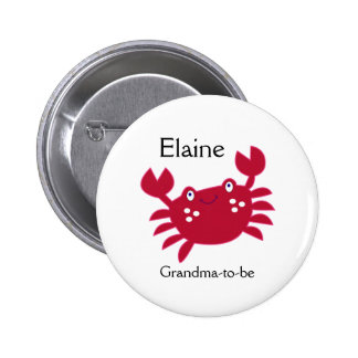 RED CRAB CALYPSO NAME TAG Personalized Button