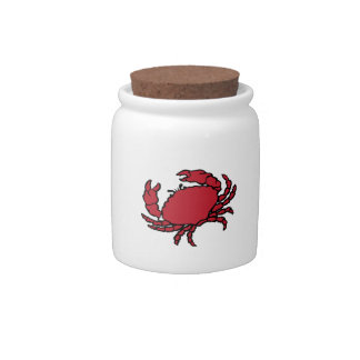 Red Crab Candy Dish
