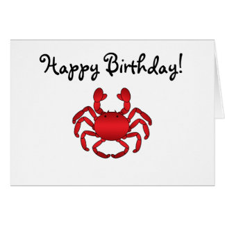 Red crab card