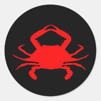 Red Crab Classic Round Sticker