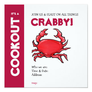 Red Crab Cookout Invitation