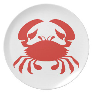 Red Crab Custom Plates