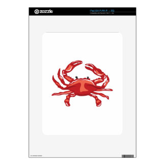 Red Crab Decals For iPad