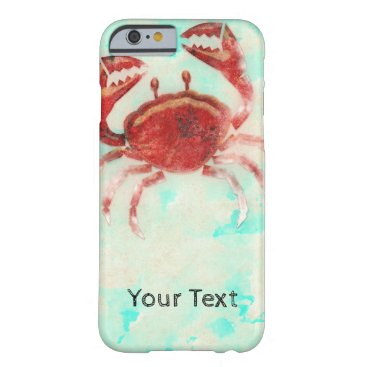 Beach Themed Red Crab Elegant Beach Ocean Sea Food Beach Chic Barely There iPhone 6 Case