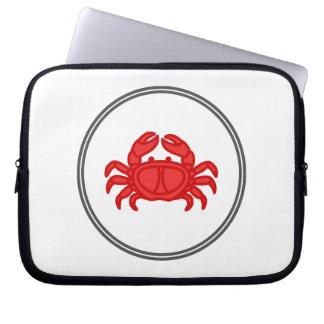 Red Crab - Fish Prawn Crab Collection Laptop Sleeve