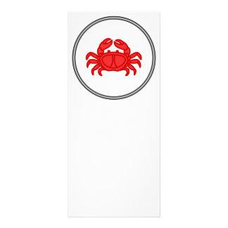 Red Crab - Fish Prawn Crab Collection Rack Card