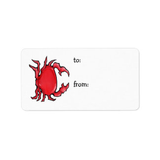 Red Crab Gift Tag