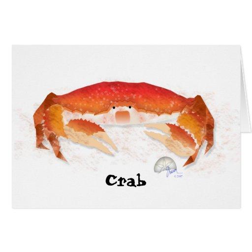 Red Crab Greeting Card